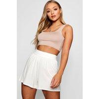 Womens Basic Flippy Shorts - White - 16, White