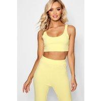 Womens Crepe Bralet - Yellow - 8, Yellow