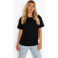 Womens Basic Oversized Boyfriend T-shirt - black - XL, Black