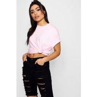 Womens Basic Oversized Boyfriend T-shirt - Pink - L, Pink