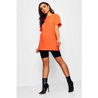 Womens Basic Oversized Boyfriend T-shirt - Orange - S, Orange