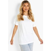 Womens Basic Oversized Boyfriend T-shirt - white - M, White