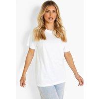 Womens Basic Oversized Boyfriend T-shirt - white - M, White