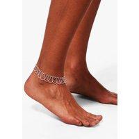 Rainbow Diamante Chain Anklet - silver