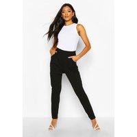 Womens Pleat Front Trouser - black - 8, Black