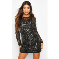 Womens Boutique Embellished Bodycon Dress - Grey - 8, Grey