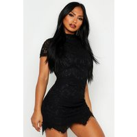 Womens Boutique Eyelash Lace Bodycon Dress - black - 6, Black