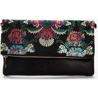 Oriental Clutch Bag - black