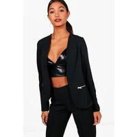 Zip Pocket Blazer - black