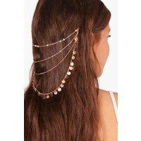 Coin Layered Hair Chain - gold