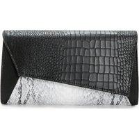 Snake Panel Clutch - black
