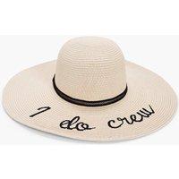 I Do Crew Straw Floppy Hat - cream