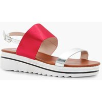 Sports Cleated Sandal - red