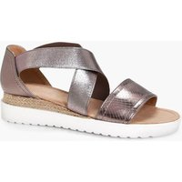 Elastic Strap Cleated Sandal - pewter