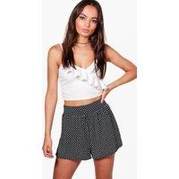 Polka Dot Flippy Shorts - black