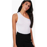 Basic One Shoulder Vest - white
