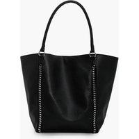 Chain Detail Shopper Bag - black