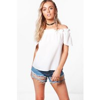 Woven Off The Shoulder Top - white