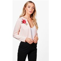 Edge To Edge Embroidered Jacket - nude