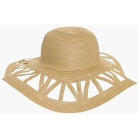 Cutout Floppy Hat - natural