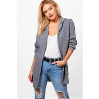 Hooded Cardigan - charcoal