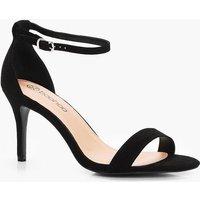 Low Heel Two Part Sandal - black