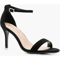 Wide Fit Low Heel Two Part - black