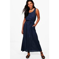 Knot Back Maxi Dress - navy
