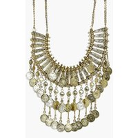 Statement Coin Necklace - gold