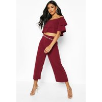 Womens Double Bandeau Top & Culotte Co-Ord Set - red - 6, Red