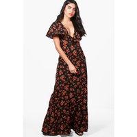 Floral Tie Back Maxi Dress - multi