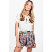 Aztec Print Shorts - multi