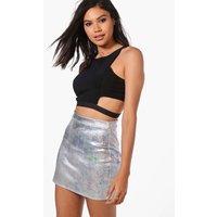 Metallic Festival Mini Skirt - multi