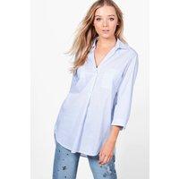 Stripe Woven Shirt - blue