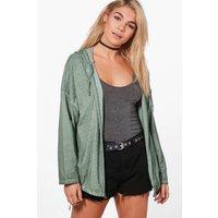 Hooded Utility Jacket - khaki
