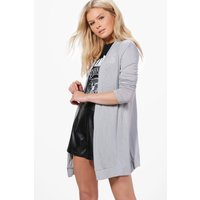 Fine Knit Cardigan - grey
