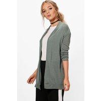 Fine Knit Cardigan - khaki