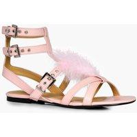 Fur Sandal - pink