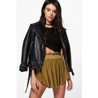 High Cut Shorts - olive