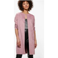Suedette Edge To Edge Jacket - nude