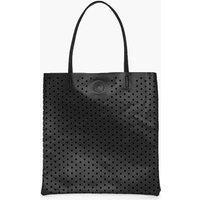 Lazercut Perforated Shopper Bag - black