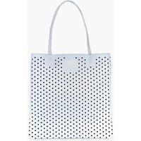 Lazercut Perforated Shopper Bag - blue