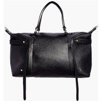 Metal Detail Day Bag - black
