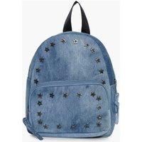 Denim Star Stud Rucksack - blue