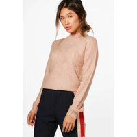 Turtle Neck Ribbed Jumper - blush