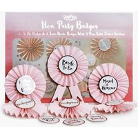Bride Rosette Badge Kit 6 Pack - pink