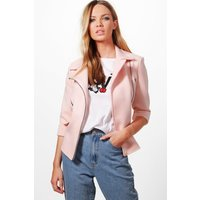 Structured Biker Jacket - nude