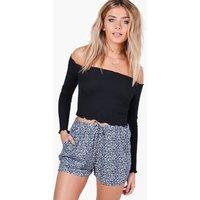 Printed Flippy Shorts - blue