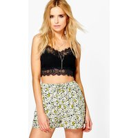Floral Flippy Shorts - green