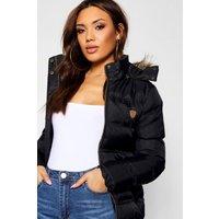 Womens Short Quilted Jacket - black - 16, Black